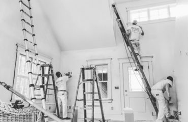 Painters prepping
